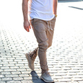 khaki side zipper harem pants men jogger mens jumpsuit club wear chinos yezzy  Pants Full Length Men  Pants