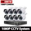 8CH 1080P HDMI P2P DVR AHD IP NVR Surveillance System Video Output 8PCS 3000TVL 2 0MP