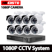 8CH 1080P HDMI P2P DVR AHD IP NVR Surveillance System Video Output 8PCS 3000TVL 2.0MP AHD Camera Home Security CCTV Kits NO HDD