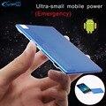 Yfw ultra slim carteira do bolso de cartão de crédito banco do poder 1350 mah carregador portátil construído em cabo micro usb bateria de backup externo