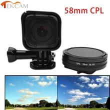LENS-FILTER Hero4 Session Polarizer For Gopro Go-Pro Tekcam 58mm Circular