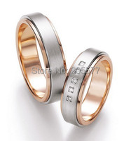 unique western luxury custom rose gold color health Matching Wedding Bands jewelry rings sets for women and men
