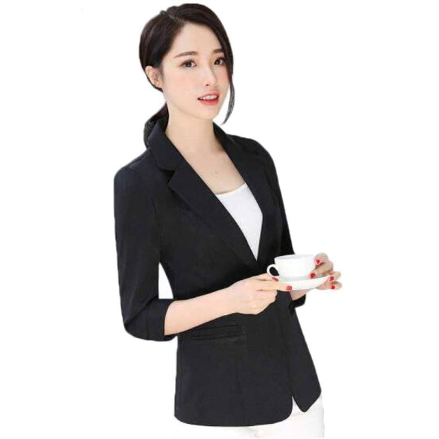 3b871c3d1e6ff Ladies Blazer Feminino Plus Size 6XL Formal Jacket Women s White Blaser Female  Women Suit Office Ladies OL Blazer Formal ZY3381