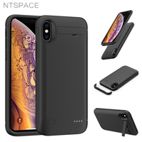 NTSPACE Ultra Slim Power Bank Case For iPhone XS MAX XR Battery Case Backup Powerbank Charging Cases External Battery Power Case|Battery Charger Cases| |  -