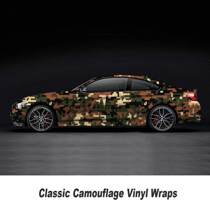 Camo Sticker Bomb Vinyl Wrap blue White Digital Camouflage Vinyl Bubble Free wrapping film 5m/10m/15m/20m/25m/30m - 2