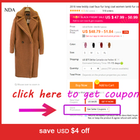 2018 new teddy coat faux fur long coat women lamb fur coat 4 color 1