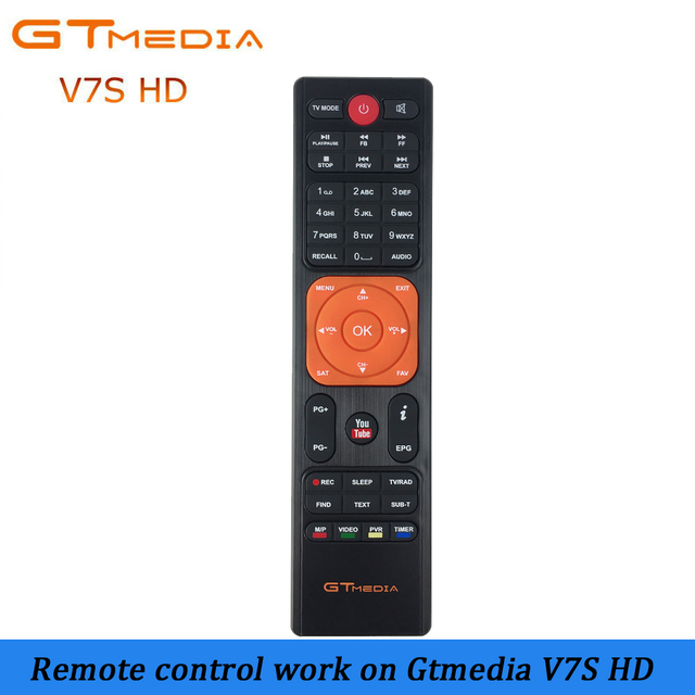 High quality Remote Control for gtmedia v7s hd Satellite tv receiver support cccam cline Receptor gtmedia remote control