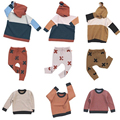 kikikids 1-7 years kids 2017 SPRING AUTUMN NUNUNU TINY clothing sets childrenT-shirt+pants sweaters baby boy clothes THICK PANTS