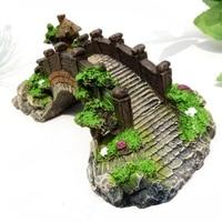 1pcs 28*14*11cm Resin Return To Ancients Style Arch Bridge Ceremonies Aquarium Tortoise Large Fish Tank Scene Artwork Decoration