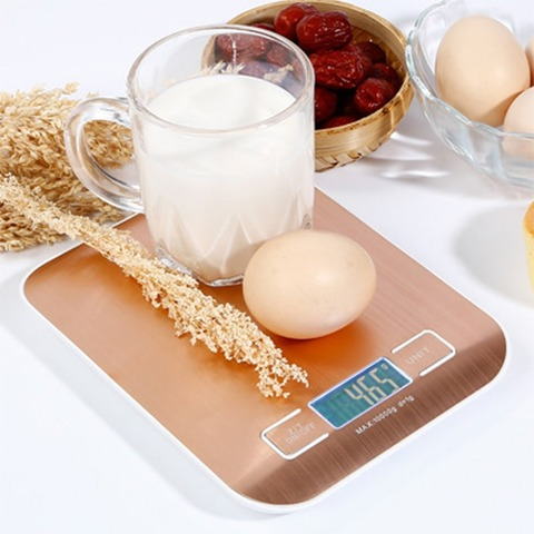 Booyah New Listing 10KG/1g Stainless Steel Portable Digital Kitchen Scales High Precision Rose gold Electronic Weighing Scales Lahore