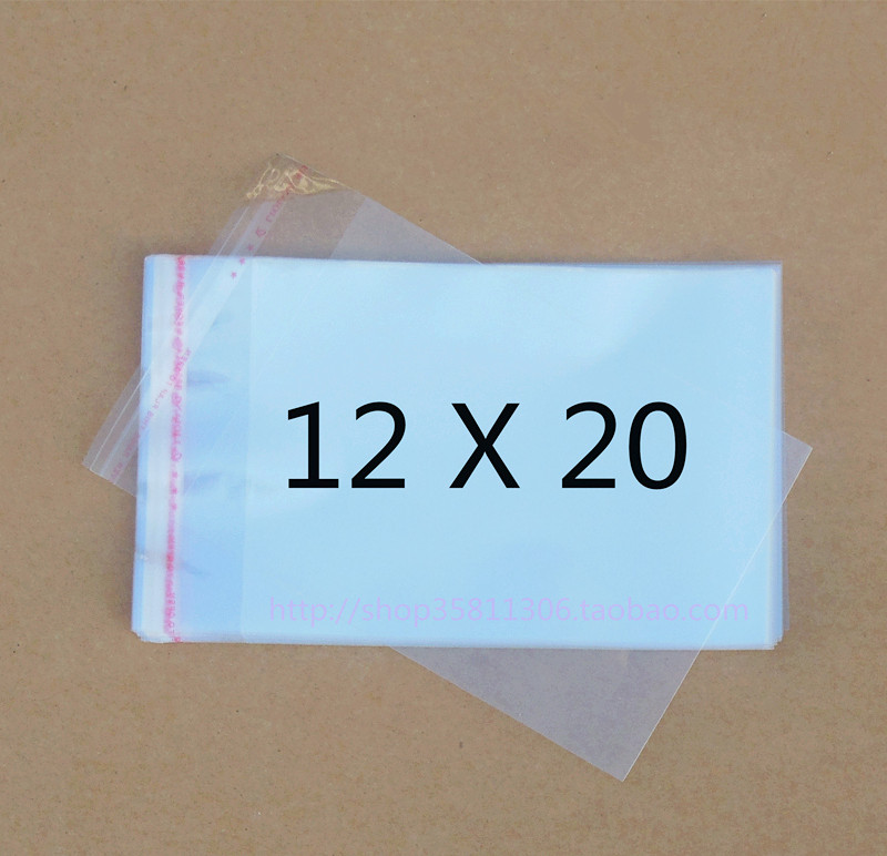 Clear Resealable Cellophane/BOPP/Poly Bags 12*20cm  Transparent Opp Bag Packing Plastic Bags Self Adhesive Seal 12*20 cmClear Resealable Cellophane/BOPP/Poly Bags 12*20cm  Transparent Opp Bag Packing Plastic Bags Self Adhesive Seal 12*20 cm