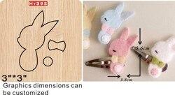 Bunny klips do włosów matryce do cięcia 2019 nowy die cut i drewniane matryce nadaje się do wspólnego die maszyny do cięcia na rynku
