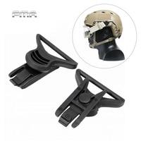 Fma rápido capacete goggle giratório clipes conjunto para capacete trilhos laterais wargame paintball airsoft tático combate montar capacete acessório|Capacetes| |  -