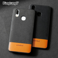 Wangcangli Sports style leather phone case for vivo x21 Suede stitching Cowhide Two tone all inclusive phone protection case