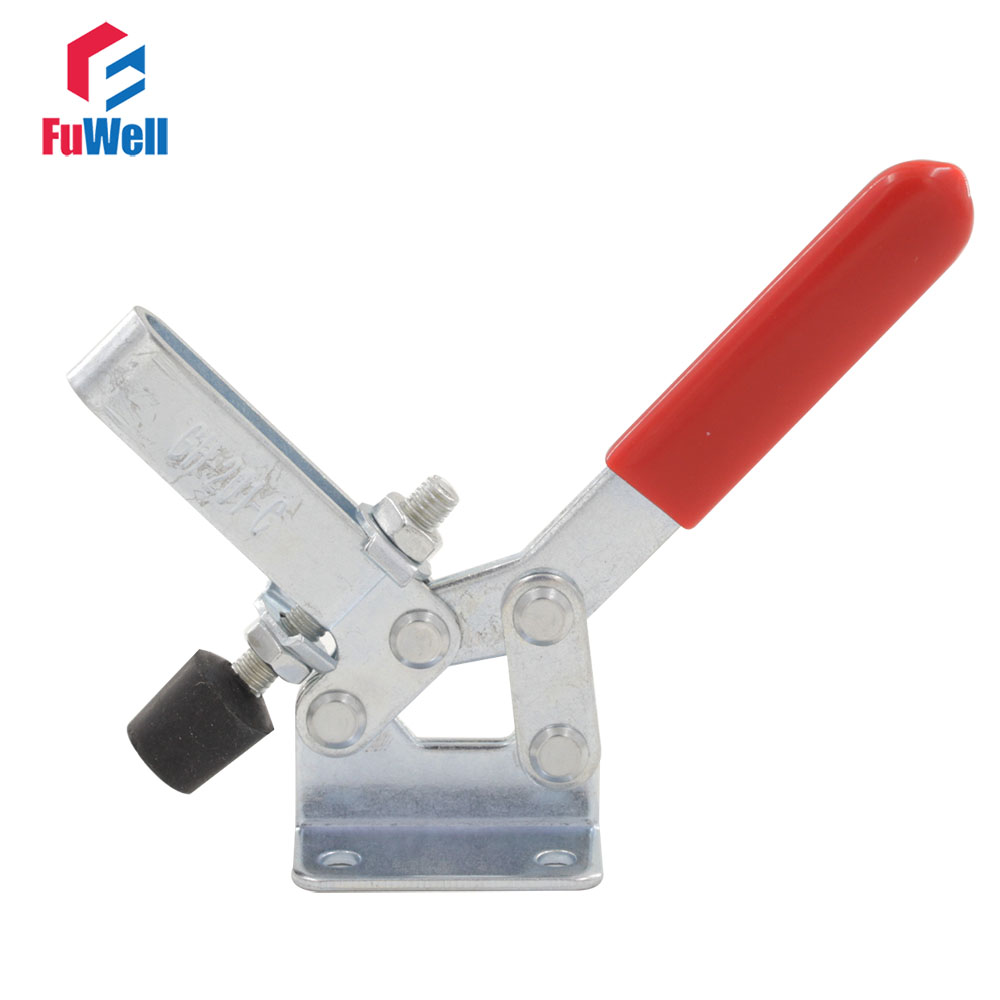 2pcs Quick Release Toggle Clamps Holding Capacity 182kg Horizontal GH-201-C Hand Tool Fixture Toggle Clamp quick clamp gh 36330 quick fixture