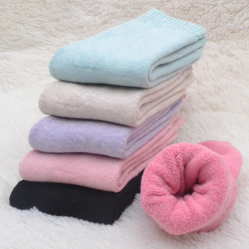 Warm Thick Fleece Cotton Socks Women Autumn And Winter 5pairs/lot Wholesale Price