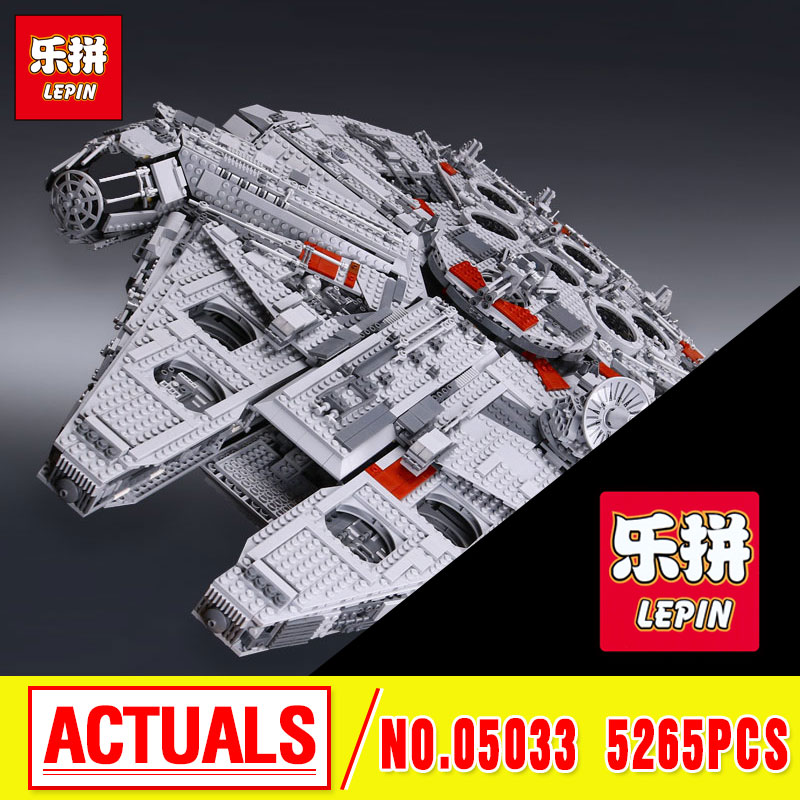 LEPIN 05033 5265pcs Star  Ultimate Collector's Model Building Kits Blocks Bricks Children Toys Gift 10179 wars new 5265pcs star wars ultimate collector s millennium falcon model building kits blocks bricks kids toys compatible with 10179