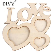 DIVV Top Grand Fashion Durable White Fashion Home Decoration Gift Love Wooden Wedding Photo Picture Frame Wedding Gifts(China)