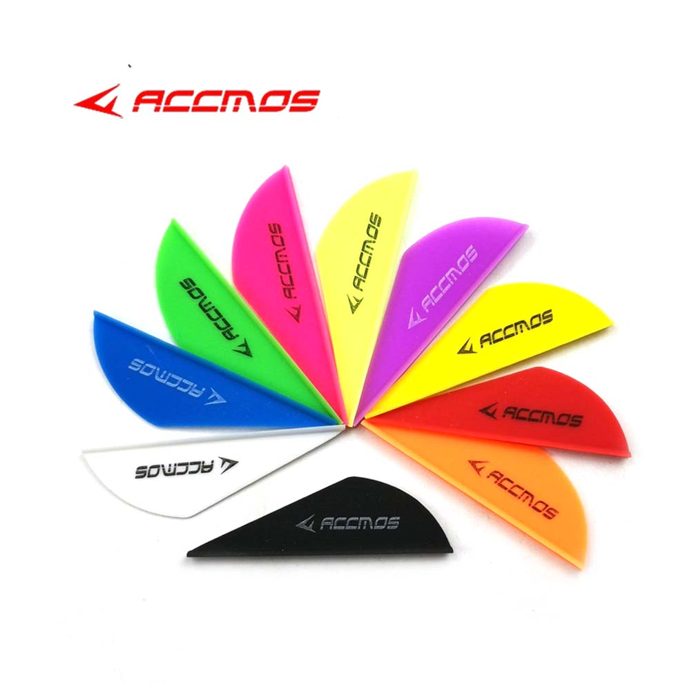 60pcs Archery 2inches Plastic Arrow Vanes TPU Arrow Feather Accessories For Arrow Shaft Archery DIY Shooting Hunting