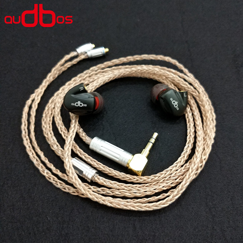 AUBOS K3 Customized MMCX HiFI Audiophile Earphone Cables for Shure SE535 SE846 OCC Silver Plating 8 Strands High End Cable 800 wires soft silver occ alloy teflo aft earphone cable for ultimate ears ue tf10 sf3 sf5 5eb 5pro triplefi 15vm ln005407