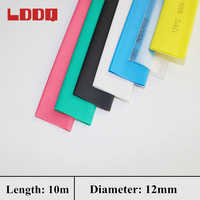 New Arrival 10m Heat Shrink Tube Seven Colors Electrical Insulation Cable Tubing Wire Wrap Cable Kit Diameter 12mm Ratio 2:1