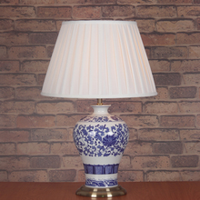 Chinese Classical Blue And White Porcelain E27 Dimmiable Table Lamp For Living Room Bedroom Bedside Study Decor Light 1838