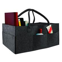 все цены на Storage bag Felt cloth Storage Bag Foldable Baby Large Size Diaper Caddy Changing Table Organizer Toy Storage Basket Travel bag онлайн