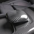 Автомобильный Стайлинг для Mercedes Benz A Class A180 A200 автоматическая ручка переключения скоростей головка из углеродного волокна наклейка автомоб...