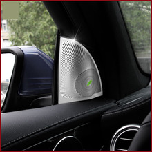 Car styling Door Stereo Speaker decoration Fit For Mercedes Benz GLC GLC200 GLC260 GLC300 car sticker