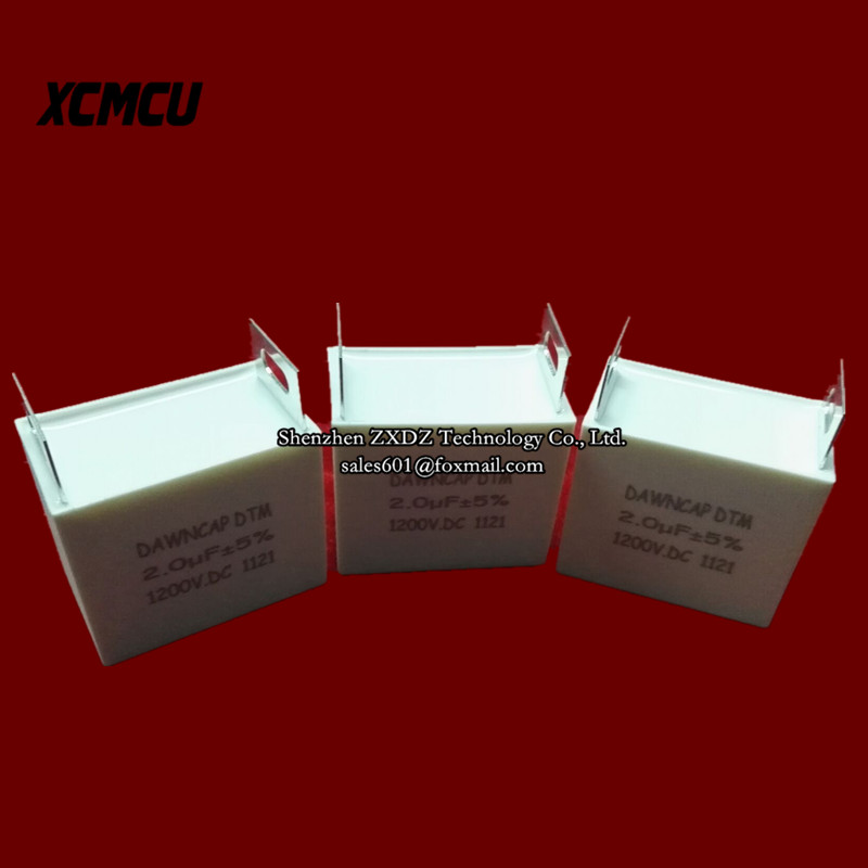 DTM 2UF 1200VDC 10% non-inductive absorption capacitor Induction heating power dedicated In stock~ high frequency heating machine dedicated resonant capacitor 0 12uf 120nf 3000vac 100khz 80a in stock