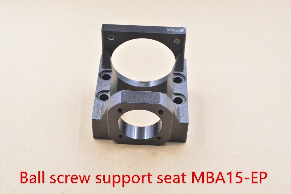Ball screw bearing housing stepper motor bracket drive seat MBA15-EP servo motor seat for FK15 support seat nema34 stepper motor motor bracket mba type mba15 mba15 f black for fk15