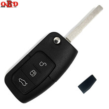 HKOBDII Remote Key Fob 3 Button 433MHz With Chip 4D60 4D63 For Ford Focus Mondeo C Max S HU101 Blade