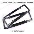 hot sale Car styling Carbon Fiber Car License Plate Stents Auto Number Frames for V-olkswagen