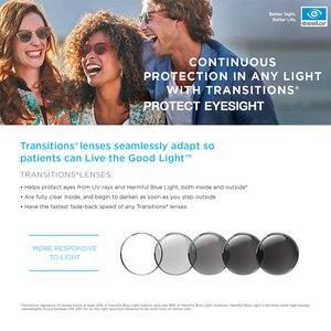 Image 4 - Essilor Transitions 1.56 1.59 1.60 1.67 1.74 포토 크로 믹 안경 처방 카멜레온 렌즈 1 쌍