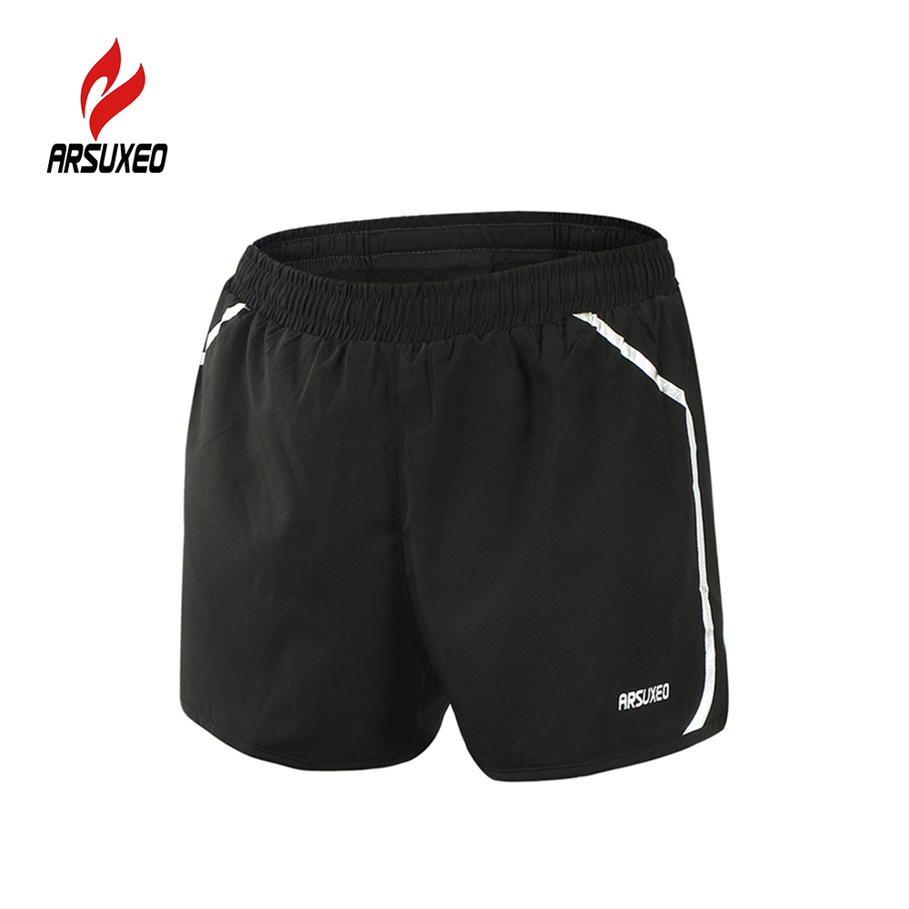 Arsuxeo men s running shorts quick dry marathon professional short pants training fitness running cycling sports shorts