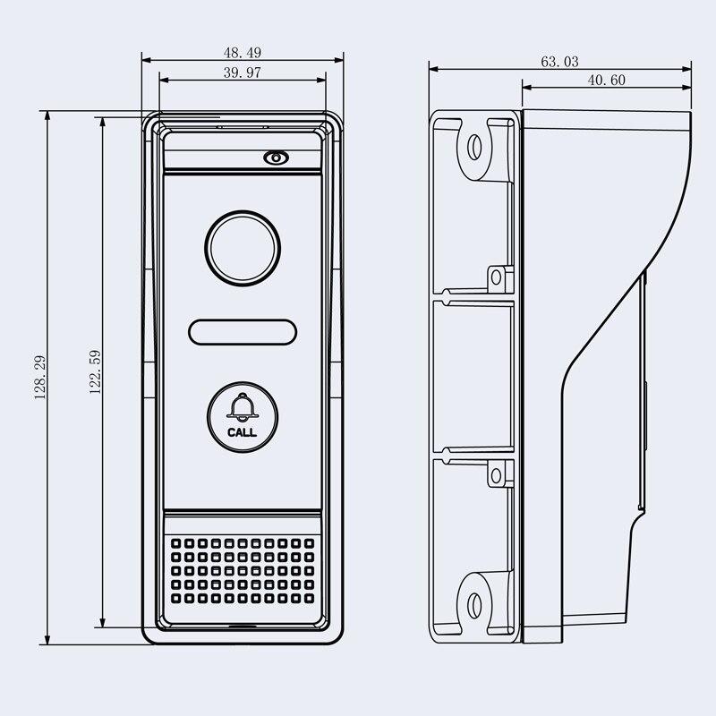 2018 New Arrival 7 Inch 1200TVL Wired Video Doorbell Door Intercom system Door Phone Recording