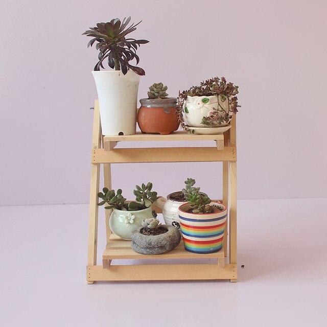 c35405534026 Soporte de planta de madera maciza maceta de flores estante de decoración  soporte de maceta de