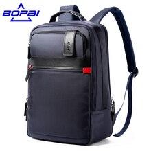 2017 Bopai Высокое качество Оксфорд мужской рюкзак мужские дорожные сумки водонепроницаемый рюкзак школьные сумки рюкзак для ноутбука 15.6 дюймов Большой