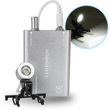 Dentist Dental Portable Silver Head Light Lamp for Dental Surgical Medical Binocular Loupe