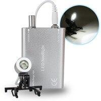 Dentista dental portátil prata cabeça lâmpada de luz para dental cirúrgica médica lupa binocular
