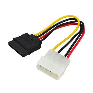 Image 1 - Marsnaska excellente 1 pièces série ATA SATA 4 broches IDE à 15 broches HDD adaptateur dalimentation câble adaptateur de disque dur mâle à femelle câble