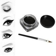 Бренд черный цвет подводка для глаз гель с кистью легко носить макияж стойкий водонепроницаемый подводка для глаз Макияж Красота женская косметика