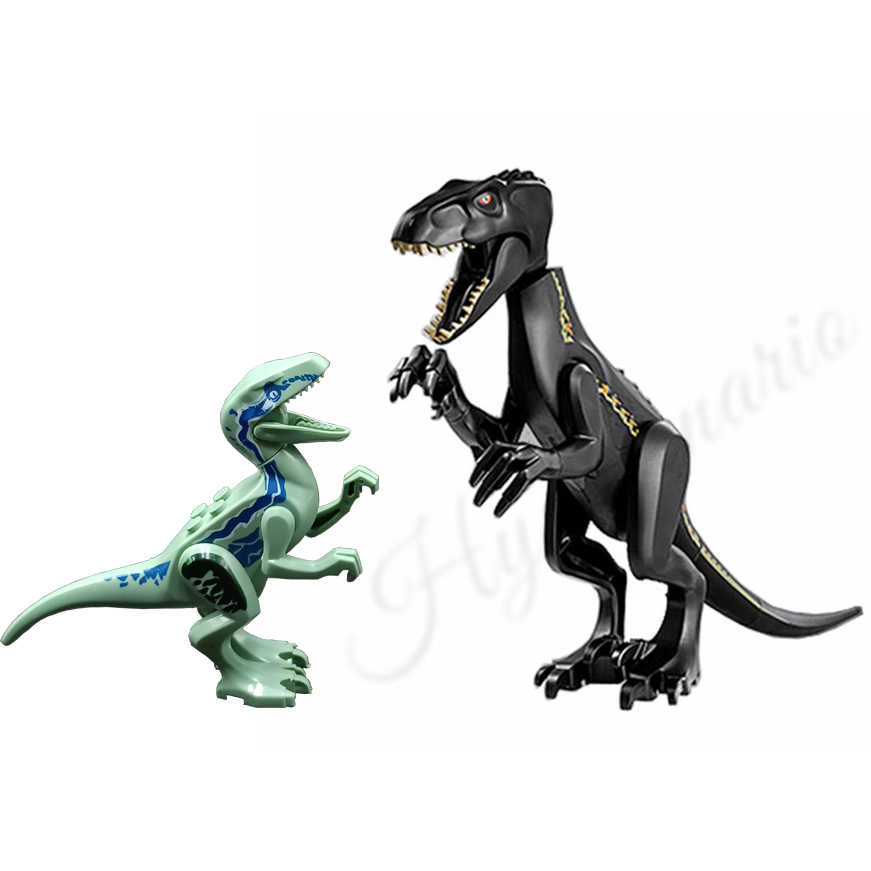 2pcs Jurassic World 2 Indoraptor Velociraptor Blue Dinosaur Model