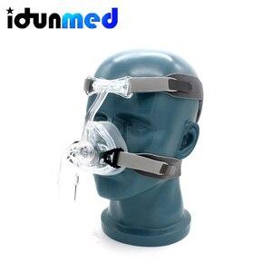Image 3 - BMC Auto CPAP Neusmasker Siliconen Respirator 3 Size Kussens Met Verstelbare Hoofddeksels Band Voor Slaapapneu Anti Snurken