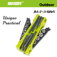 JAKEMY 17 In 1 Outdoor Folding Tool Set Bicycle Auto Car Mechanic Repair Screwdriver Sockets Tool