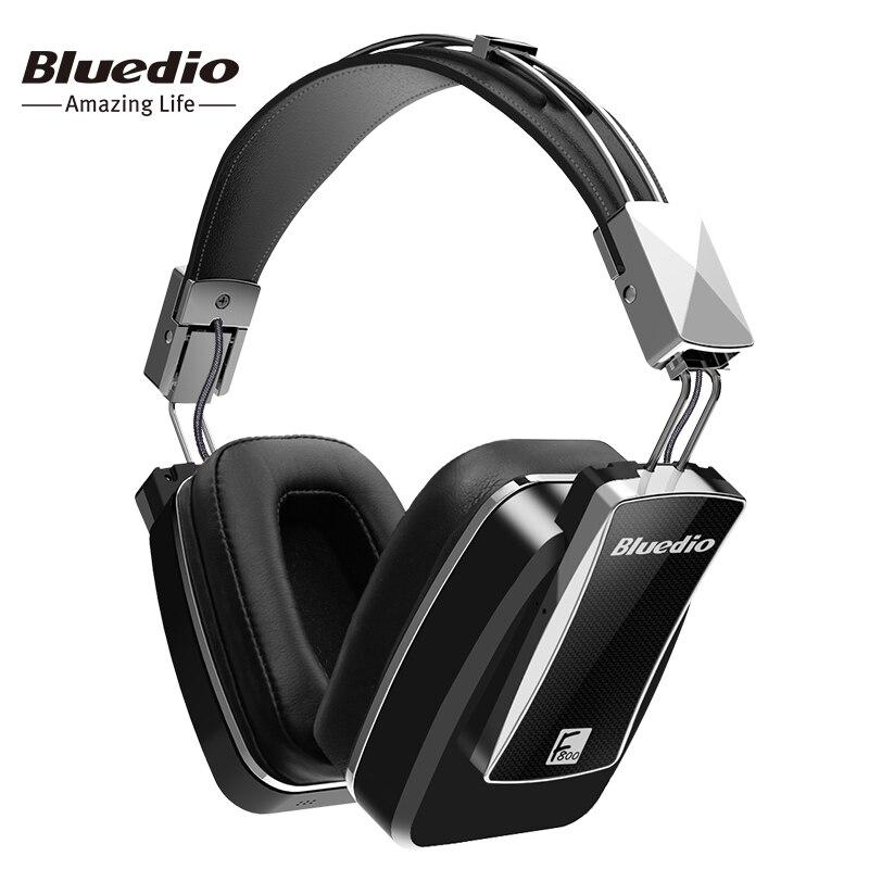 Bluedio F800 Active Шум отмена Беспроводной Bluetooth наушники Junior ANC Edition вокруг уха гарнитура Черный