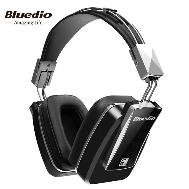 F800 com cancelamento de ruído ativo fones de ouvido sem fio bluetooth bluedio júnior edição do anc em torno da orelha fone de ouvido preto