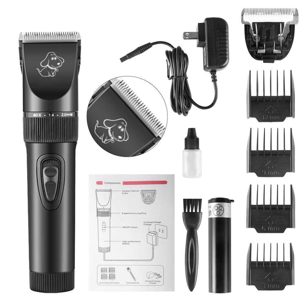 Adapter - P7™ Rechargeable Pet Dog Hair Clipper Professional Electric Pet Grooming Clippers Dogs Cats Animals Low Noise Pet Trimmer Kit