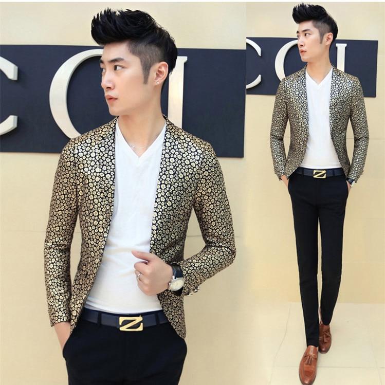 Popular Mens Gold Blazer-Buy Cheap Mens Gold Blazer lots from ...