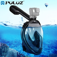 PULUZ Tube Water Sports Diving Equipment Full Dry Snorkel Mask For GoPro HERO Action Cameras, S/M Size Black/Pink/Blue/GreeN